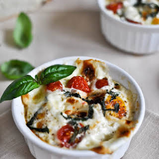 Caprese Baked Egg Cups.