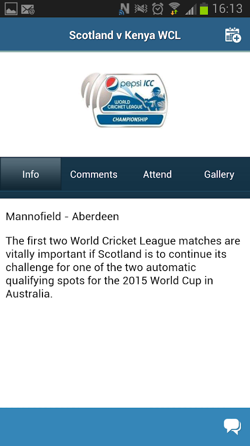 Cricket Scotland - screenshot