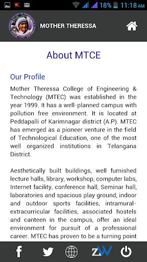 【免費教育App】Mother Theressa CET (MTCE)-APP點子