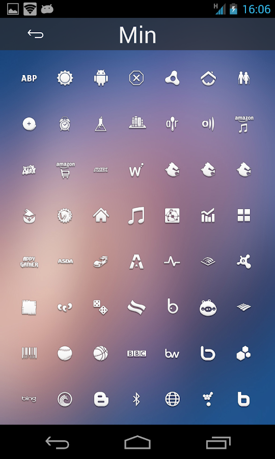 Min - Icon Set - screenshot