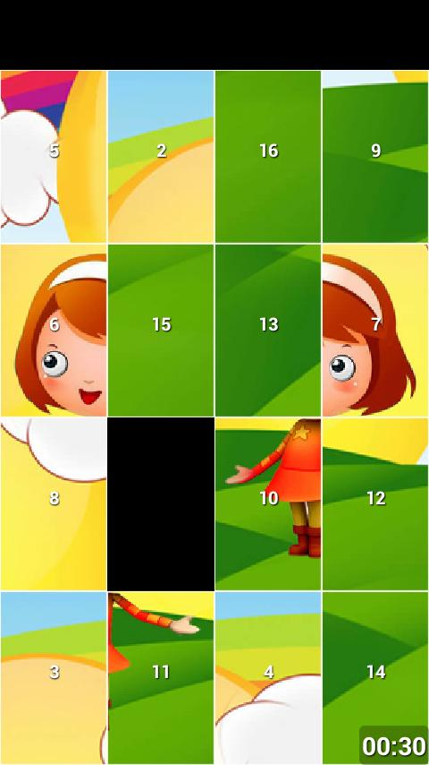 Cartoon Sliding Puzzle Game- screenshot