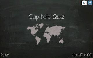 Screenshot of Capitals Quiz
