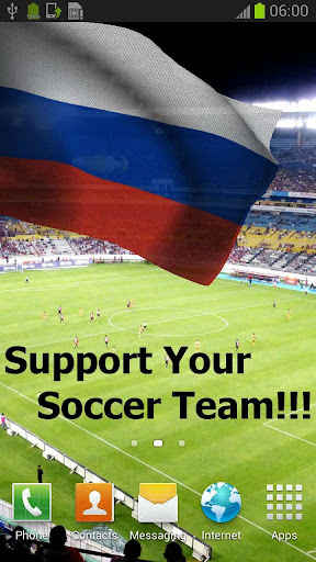 3D Russia Flag Live Wallpaper+