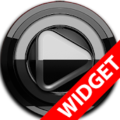 Poweramp widget BLACK Black
