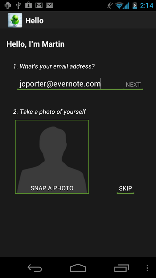 Evernote Hello - screenshot