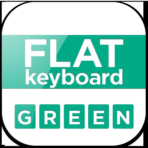 Flat Green Keyboard LOGO-APP點子