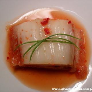 Kimchi (Korean Spicy Fermented Cabbage)