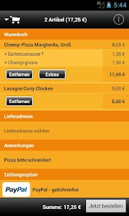 pizza.de - Essen bestellen - screenshot thumbnail