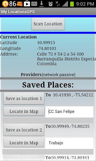 My Locations GPS