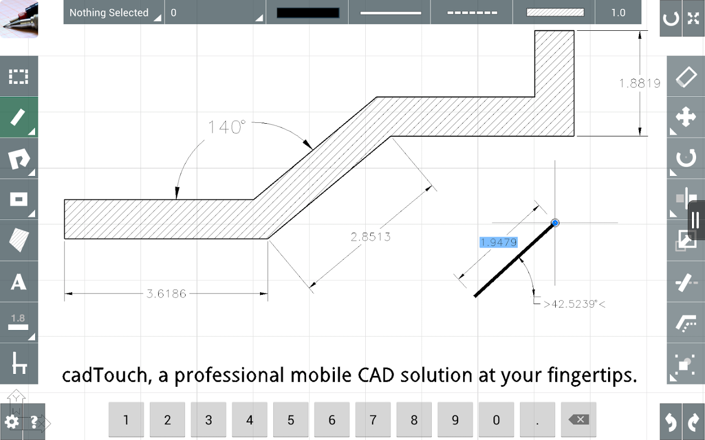 Cad touch free android apps on google play for Online cad drawing software