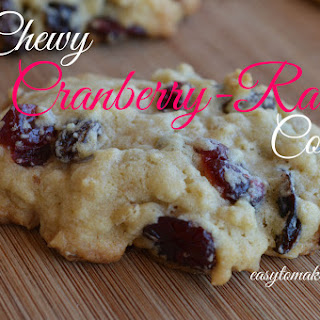 Chewy Cranberry-Raisin Cookies.