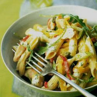 Smoked Trout And Pasta Salad.