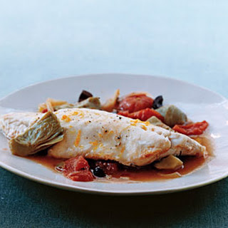 Bass in Artichoke and Tomato Broth