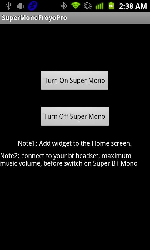 Super BT Mono Pro - Don't buy - screenshot