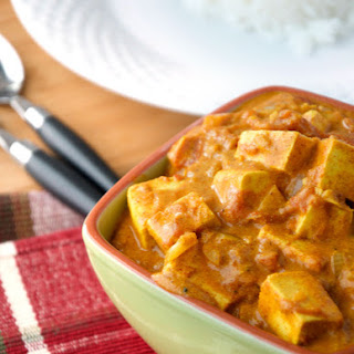 Butter Chicken Style Tofu Massala.