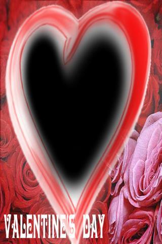 無料バレンタインフォトフレーム