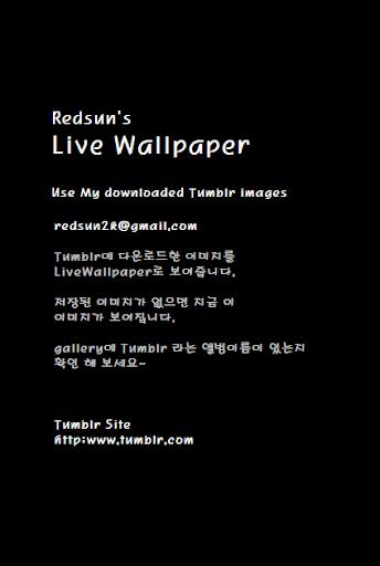 Redsun Tumblr Live Wallpaper