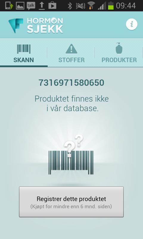 Forbrukerrådet Hormonsjekk- screenshot