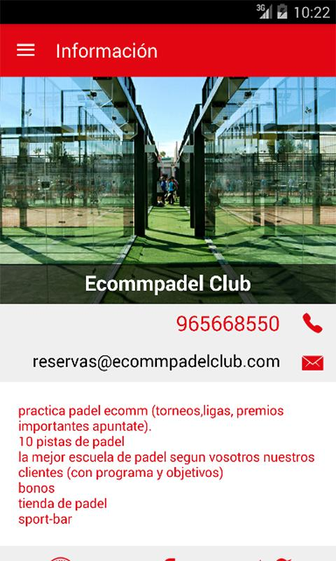Ecommpadel- screenshot
