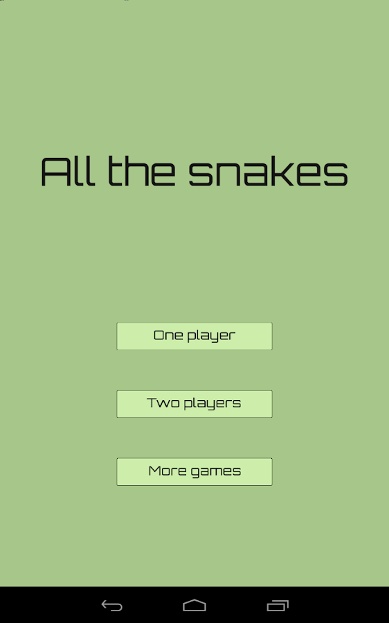 All the snakes- screenshot