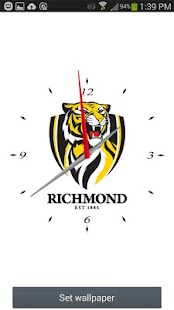 Richmond Tigers Analog Clock- screenshot thumbnail