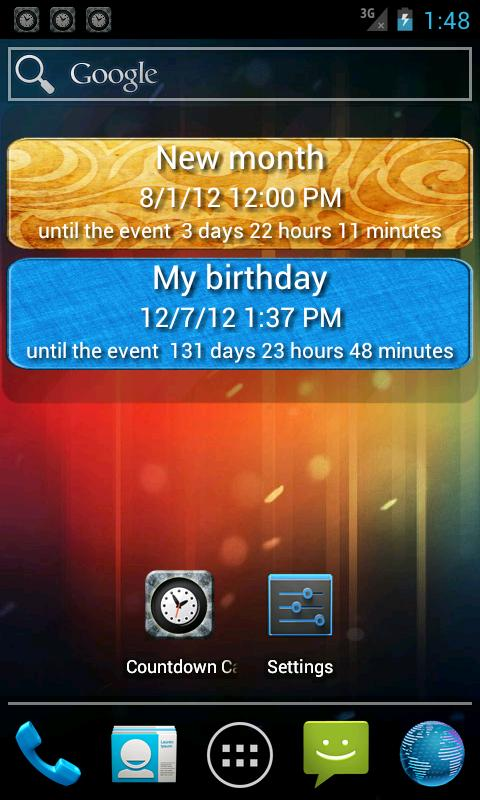 The countdown calendar. - screenshot