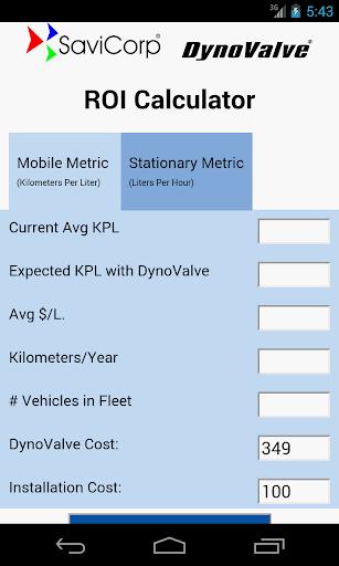 DynoValve ROI Metric Calc