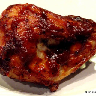 Simple Oven Baked BBQ Bone-in Skin-on (Split) Chicken Breast