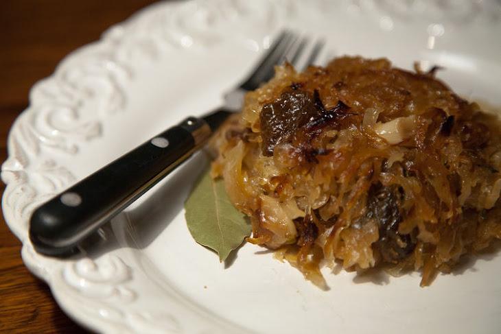 Caramelized Sauerkraut with Prunes, Herbs and Honey Recipe