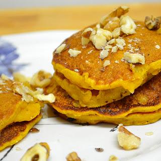 Pumpkin Oatmeal Pancakes.