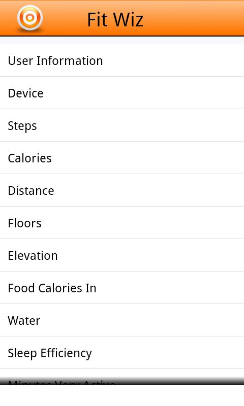 Fit Wiz for use with FITBIT®- screenshot