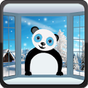 Snowfall Panda HD Live WP icon