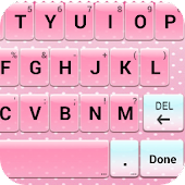 Pink Keyboard -Emoji,Emoticons
