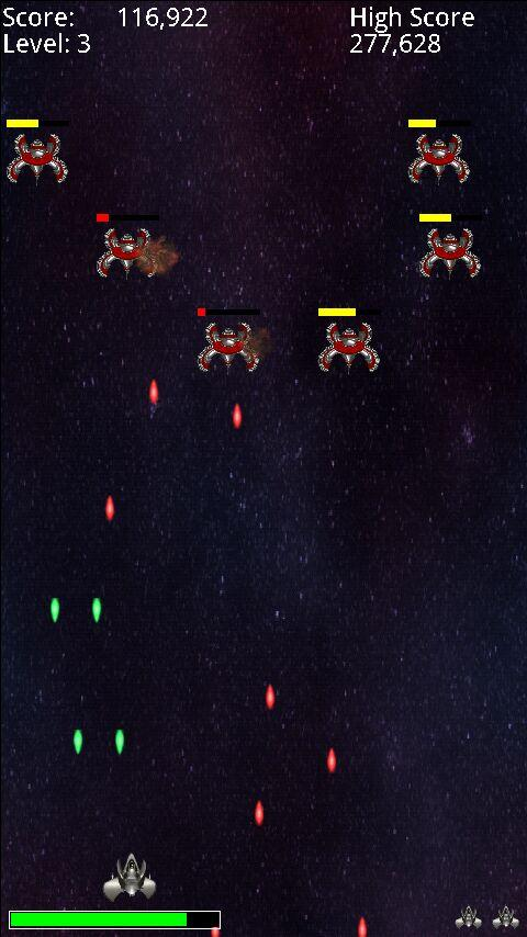 Free Space Invaders Style Game - screenshot