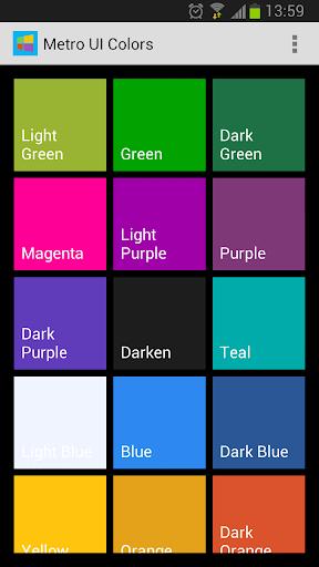 Metro UI Colors