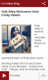 Folk Alley Player - screenshot thumbnail