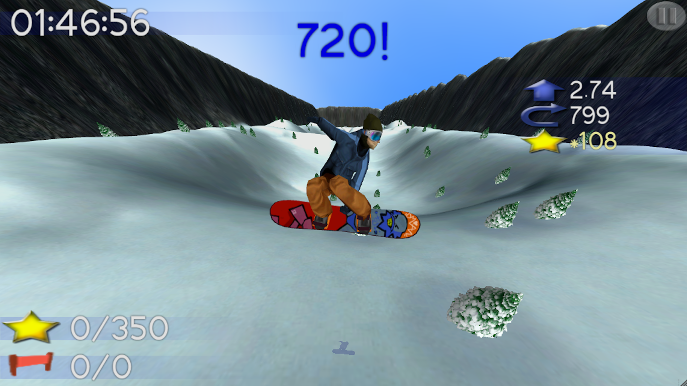 B.M.Snowboard Free - screenshot