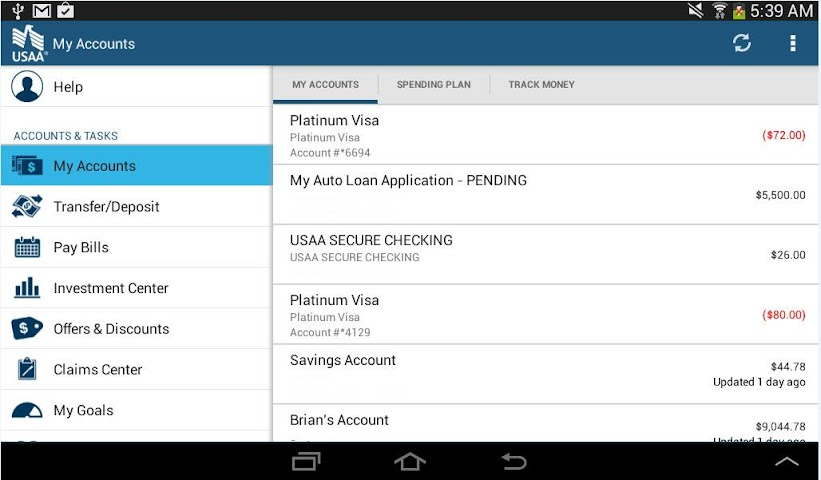 Screenshots for USAA Mobile for Android