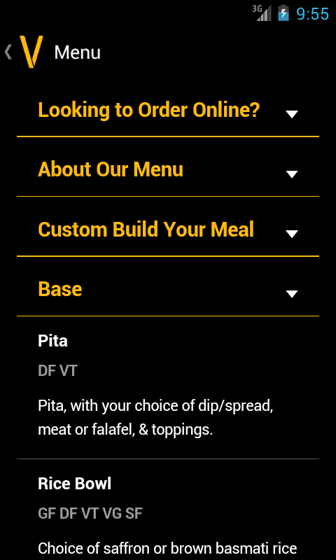 Cava Grill Loyalty - screenshot