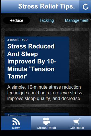 Free Stress Relief Tips.