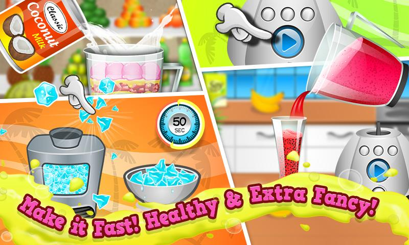 Smoothie Maker Crazy Chef Game- screenshot