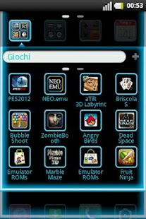 GO Launcher Light Blue Laser - screenshot thumbnail