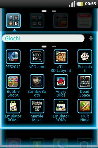 GO Launcher Light Blue Laser - screenshot