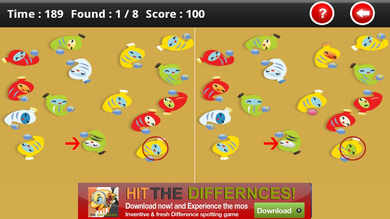 Hit The Differences - screenshot