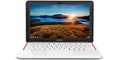 HP Chromebook 11 (White/Red, Wi-Fi)