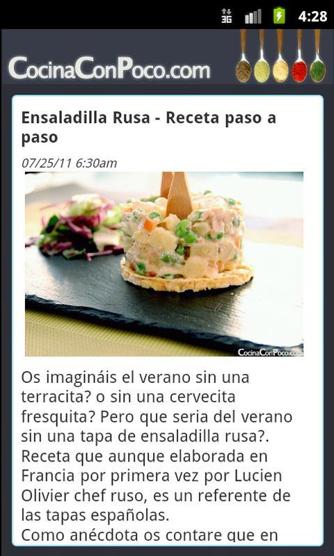 Cocina Con Poco- screenshot