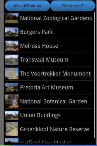 Pretoria Travel Guide Map