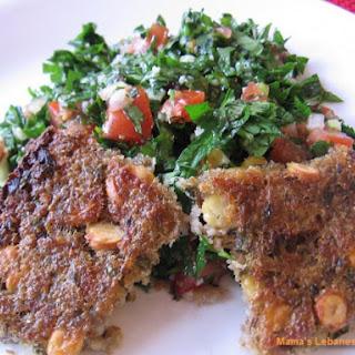 Lebanese Vegetarian Potato Kibbe Recipe - Kibbeh Aat'aa