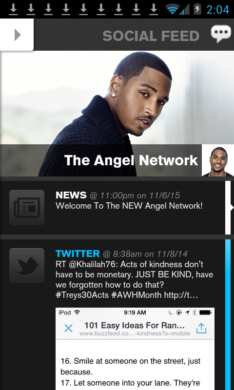 Trey Songz - The Angel Network- screenshot