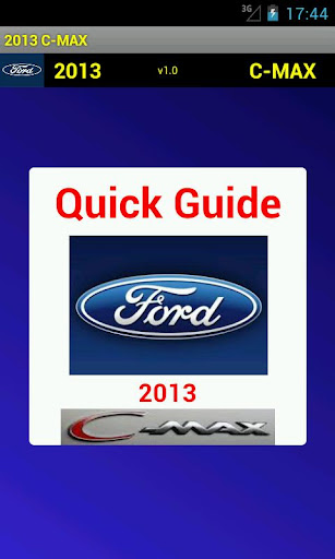 Quick Guide 2013 Ford C-MAX